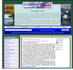 Screen Capture of Community Focus Online Website