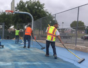 Spring Valley Community Park Basketball Project Restoration Photo