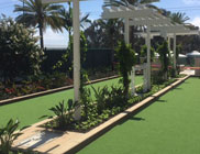 Beautiful Bocce Ball Court covered with Artifcial Turf