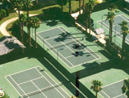 Aerial View of Country Club Tennis Courts