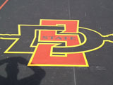 SD State Logo Painted on Tennis Court Photo