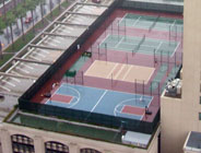 Aerial View of Four Different Game Courts Photo