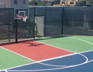 Tri-Colored Basketball Court