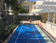 Gorgeous Blue Shuffle Board Court at The Bay Club